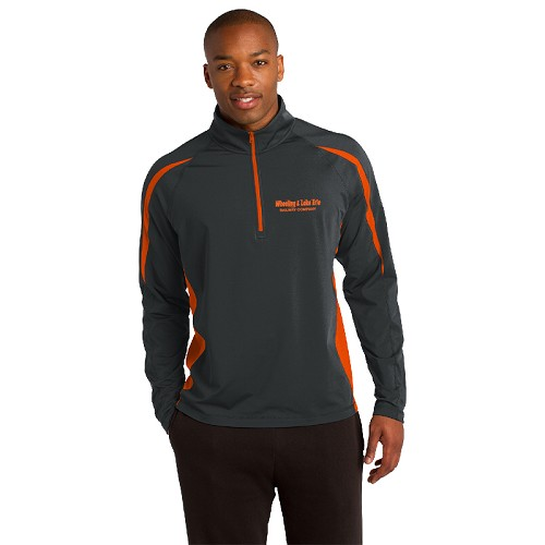Sport-Tek® Sport-Wick® Stretch 1/2-Zip Colorblock Pullover