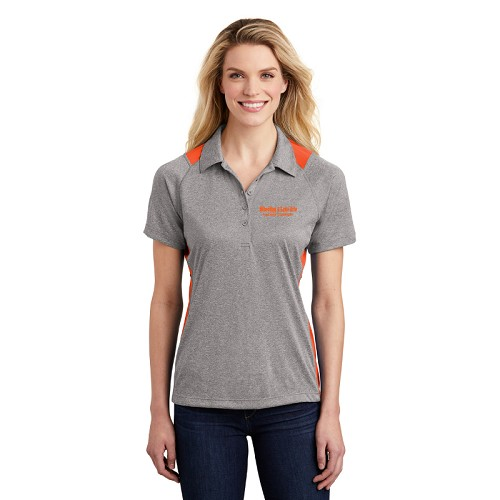 Sport-Tek® Ladies Heather Colorblock Contender™ Polo